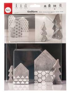 Gietvorm - 2 huisjes (13,5 x 16,5 cm)