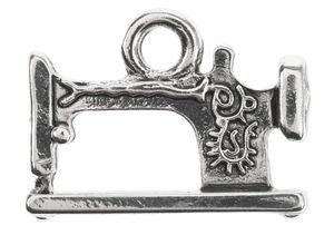 Metalen hanger - Naaimachine (19x15mm) oudzilver