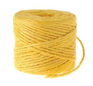 Jutegarn (3,5 mm),  55-60 m/200 g gelb