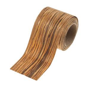 Houtfineer stof (6 cm x 2,5 m) bruin