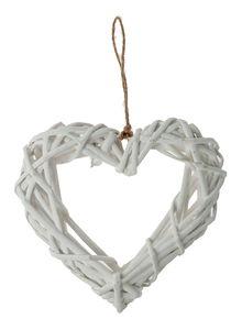 Colgante de mimbre - Corazón (20 cm)