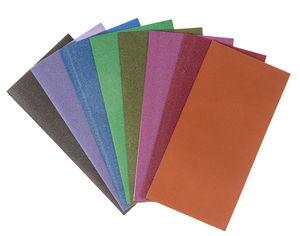 Wachsplatten,  8 Farben metallic (200 x 100 mm)