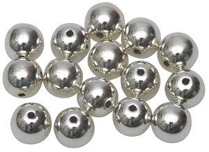 Perles métallisées -Bille-, Diam. 8 m...,