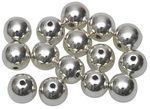 Perlas metalizadas (8,0 mm) 15 ud. plateadas