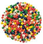 Houten kralen (2e keus) kleurrijk, 500 g