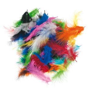 Pluisveren, 100 g = ca. 1200 stuks, 10 kleuren