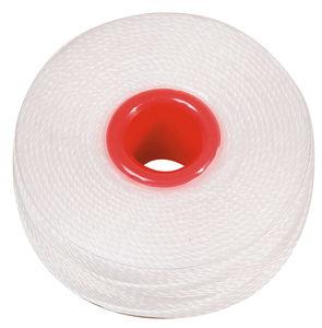 Fil pour perles, Diam. 0,2 mm, ..., blanc