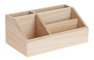 Holz-Utensilienbox  (24 x 13,5 x 10 cm)