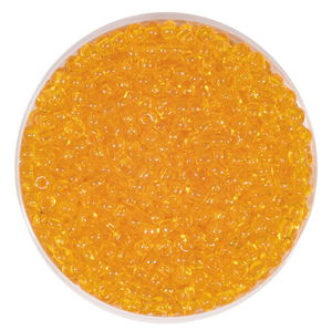 Rocallas transparentes (2,6 mm) amarillo sol, 20 g