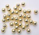 Perlas metalizadas (6,0 mm), 35 ud., doradas