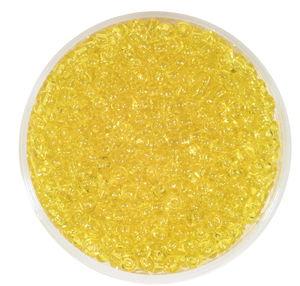 Perles de rocaille transparentes, jaune citron
