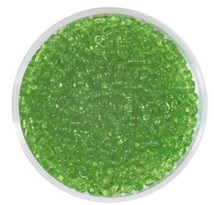 Perles de rocaille transparentes, vert tilleul
