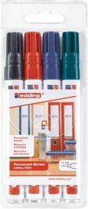Rotulador Edding 3000 1,5-3 mm - lote de 4 colores