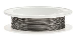 Nylon-Coated-Draht (0,50 mm), 10 m Spule silber