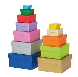 Geschenkboxen, 12-teilig eckig bunt