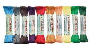 Raffia set - glanzend (30 m) 10 kleuren