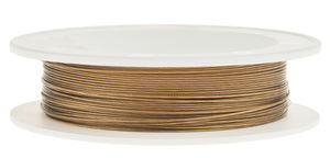 Nylon-Coated-Draht (0,50 mm), 10 m Spule gold