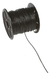 Lederriemen (1 mm), 50 m schwarz