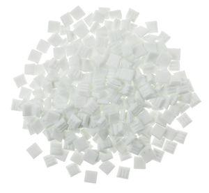 Mosaik-Glassteine, 300 Stück weiß    (10 x 10 mm)