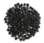 Mosaik-Glassteine, 300 Stück schwarz (10 x 10 mm)