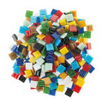 Mosaik Glassteine, 200 g bunt-mix   (10 x 10 mm)