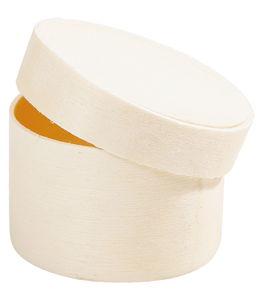 Boîte ronde en copeaux , 145 x 50 mm (øxH)