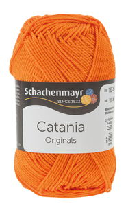 Handarbeitsgarn Catania, orange (125m/50g)