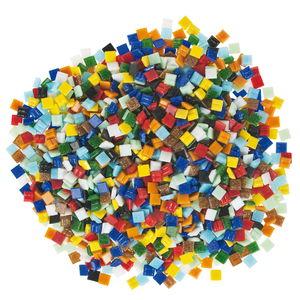 Mosaik Glassteine,  1 kg bunt-mix   (10 x 10 mm)