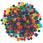 Tiffany glas mozaïek mix - transparant, 500 g