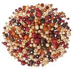 Houten kralen (2e keus) bruintinten, 500 g