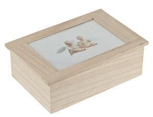 Houten bewaarbox, 240 x 160 x 83 mm, per stuk