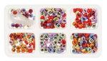 Perlas alfabeto, 7 mm 300 ud. - multicolor