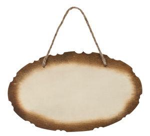 Houten deurbordje 'ovaal', 25 x 15 cm, per stuk