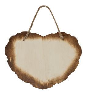 Panneau en bois -Coeur-, A suspendre,...,
