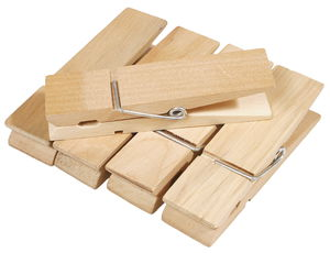 Houten wasknijpers (12 cm) 10 stuks