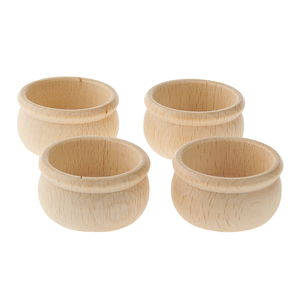 Houten kaarsenhouders (25 x 50 mm) 4 stuks