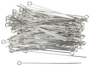 Clous à oeillet en métal, couleur platine