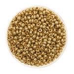 Rocailles metallic (2,6 mm), 17 g gold glänzend