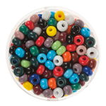 Rocailles-mix, (4,5mm), 17 g, colorato opaco