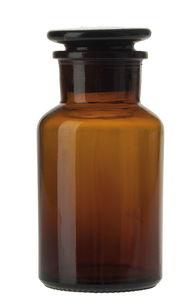 Glasflasche mit Stöpsel, braun (6,5 x 13,5 cm)