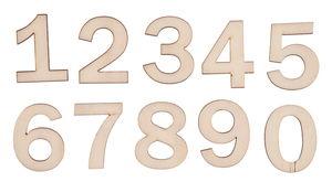 Houten cijfers 0 - 9