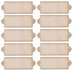 Houten etiketten, naturel,(50 x 18 mm), 10 stuks