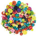 Kunststoff-Knöpfe, 500 g farbig sortiert