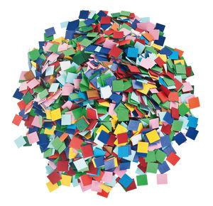 Papier mozaïek (1 x 1 cm) bont, 10.000 stuks