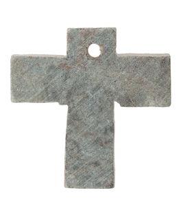 Colgante de esteatita - Cruz con orificio