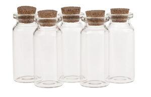 Glazen flesjes met kurk (10 ml) 5 stuks