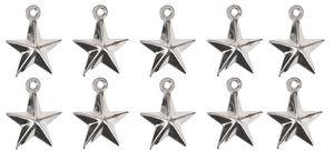 Colgante metálico - Estrella, (10x12 mm), 10 ud.