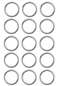 Anillas de acero inoxidable, (6 mm), 15 ud.