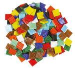 Mosaik Glassteine, 500 g bunt-mix   (20 x 20 mm)