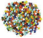 Mosaik Glassteine, 500 g bunt-mix   (10 x 10 mm)